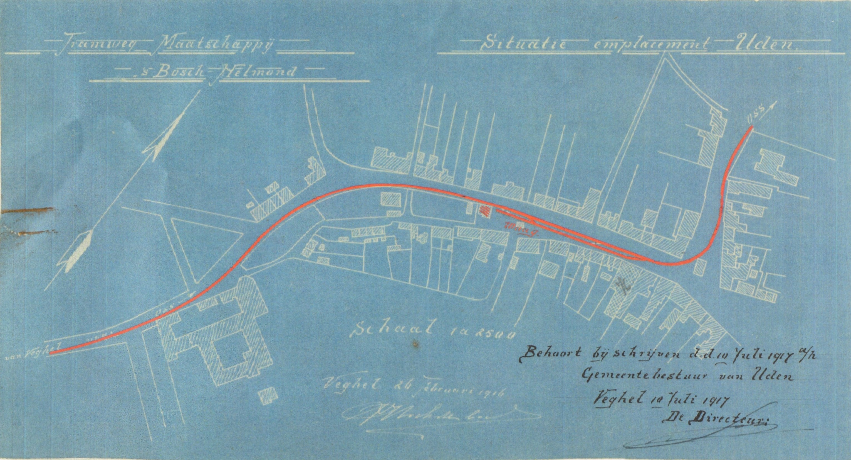 Blauwdruk trambaan Uden